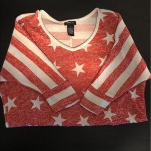 Fourth of July Forever 21 3/4 Sleeve